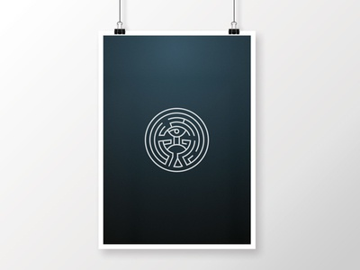 The Maze • Westworld maze vector poster westworld tv show