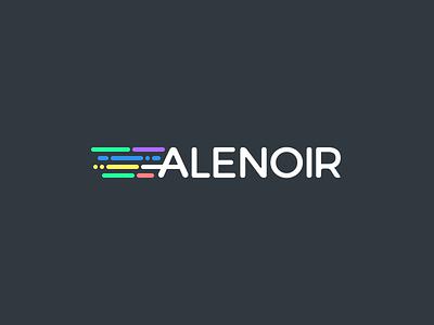 ALENOIR Logo dev commit code brand identity logo