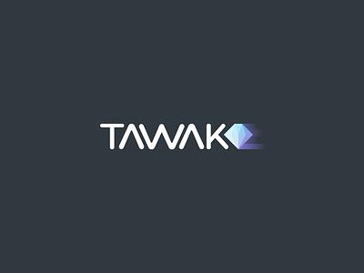 Logo Tawak motion app design brand identity logo