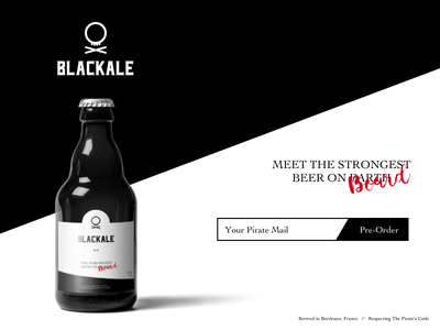 Landing Page – Daily UI challenge #003 pirate label beer daily ui landing page
