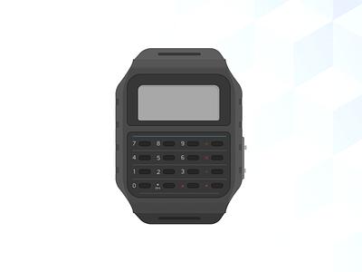 Calculator – Daily UI challenge #004   vector illustration calculator casio daily ui
