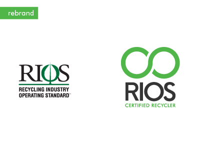 Electronic Recycling Company Series Logo Redesign recycling paul weber