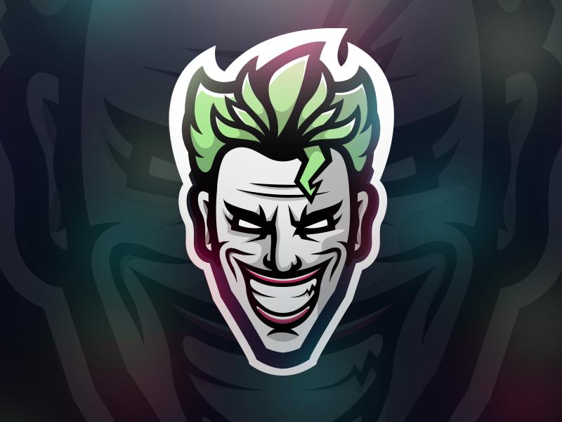 evil joker skull