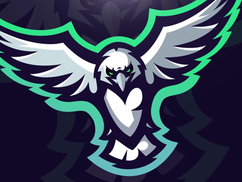 eagle logo illustration mascot by shard dribbble