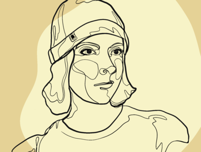 Self-Portrait Line Art