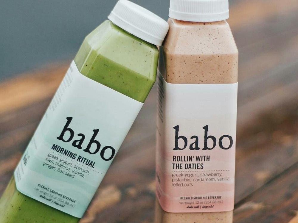 Babo Smoothie Label smoothie food label label