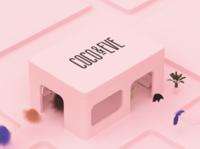Coco & Eve hair care shop haircare design colors motiongraphics cgi minimalist 3d artist c4d 3d