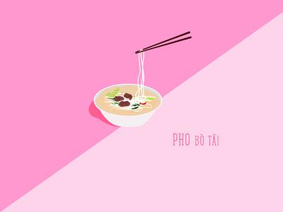Who loves pho like me? vietnamese photoshop illustration minimalist soup pho