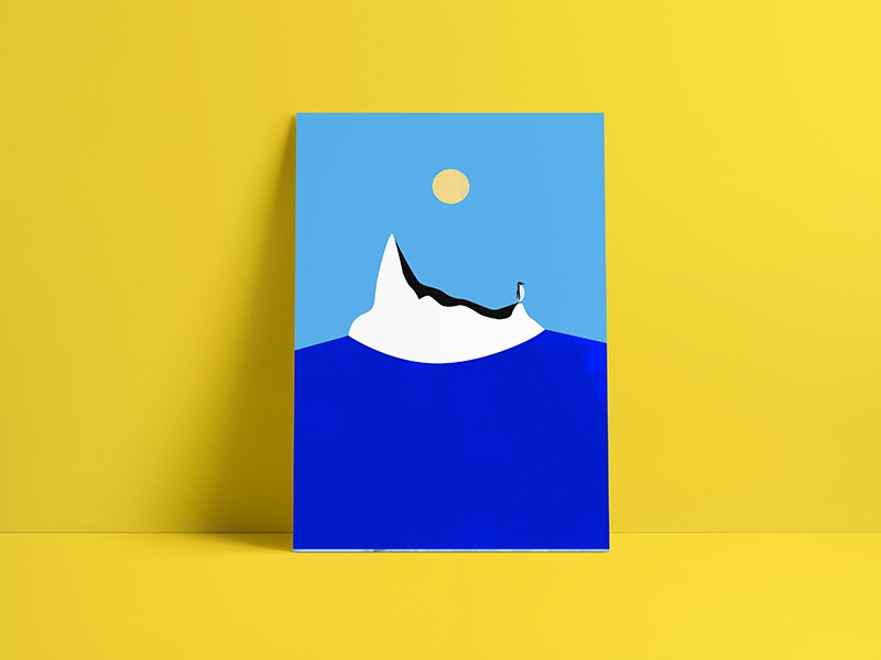 Waiting for love illustration inspiration minimal minimalist colors