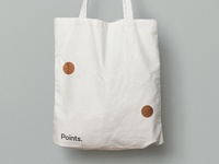 Points. Tote bag