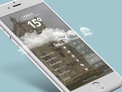 Weather sun rain cloud tempo clima app visualdesign ui weather