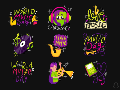 WORLD MUSIC DAY apple pencil italy earth planet earth love airpods earpods earphone ipod planet musician music illustration procreate geofilter snapchat