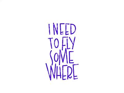 I NEED TO FLY SOMEWHERE travel plane fly animation procreate