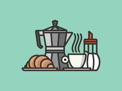 ITALIAN BREAKFAST colazione italia brioches breakfast sugar coffee