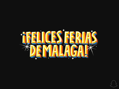 FERIAS DE MALAGA apple pencil ipad pro ipadpro applepencil ferias fair spain malaga vector logo geofilter dribbble procreate illustration snapchat