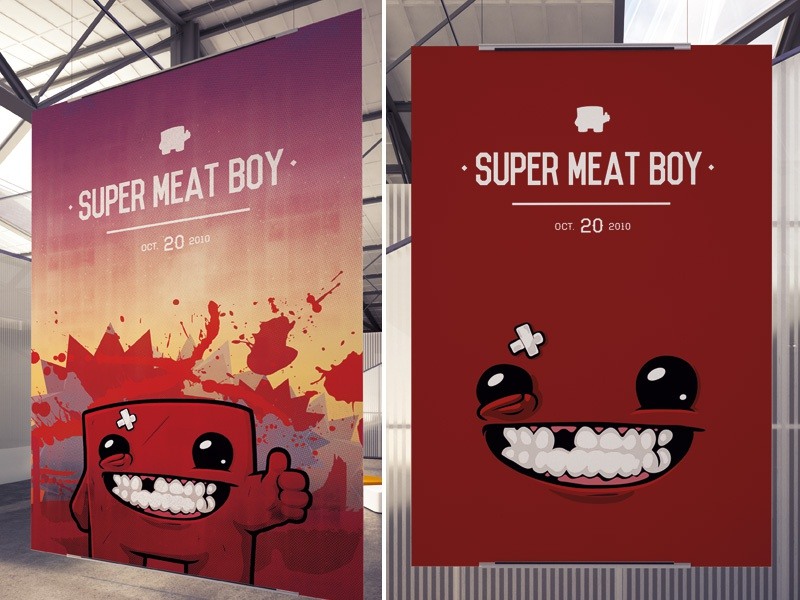 super meat boy poster by stefan atterdal dribbble