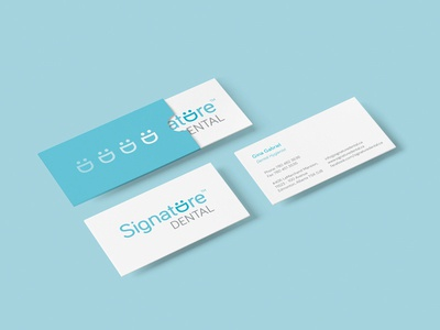 Signature Dental business cards