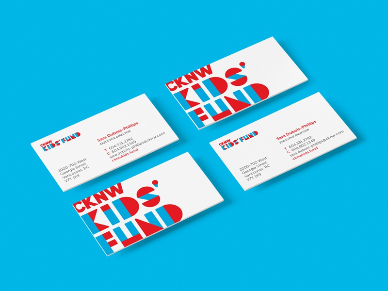cknw kids fund business cards by andrea van der ree dribbble - Kids Business Cards