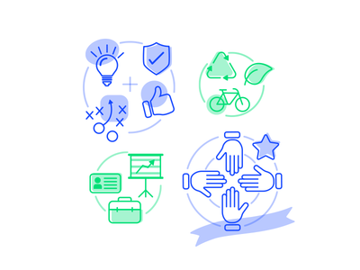 Icon illustrations for Vancouver Airport