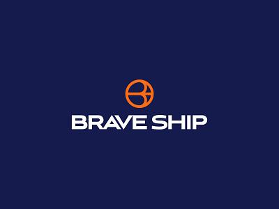 Brave Ship intermodal chain supply airplane shipping log logistica navio ship sea symbol brand design brand logistics freight design logotype logo graphic design