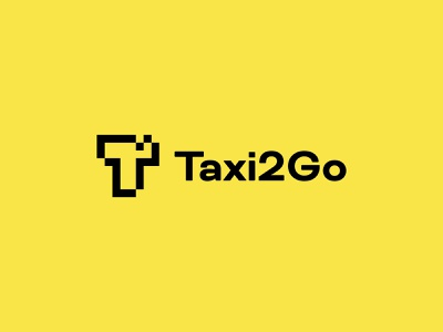 Taxi2Go request black yellow car platform shipping package taxi driver startup application app driver delivery taxi brand brand design logotype logotipo logo