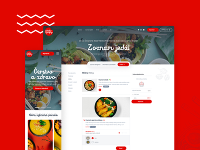 Hello Hungry - restaurant web ordering system hellohungry food system ordering figma red restuarant webdesign web website ux ui