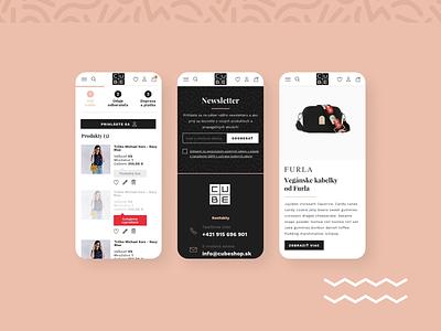 Cube - Eshop redesign 2 responsive clothes fashion cube eshop design webdesign web website ux ui