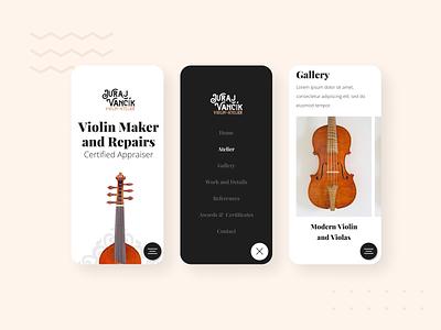 Vancik Violin - website 2 brown violin repair clean hero luxury elegant design webdesign web website ux ui