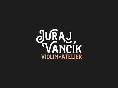 Juraj Vancik - logo atelier logos black gold graphic design violin branding logo design
