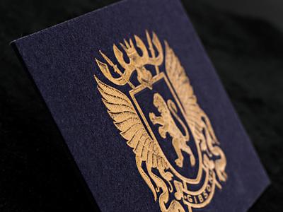 Gmund Blue Cotton (900g) + Gold Foil Stamping design branding foil print business cards logo minimal print peppermint business card