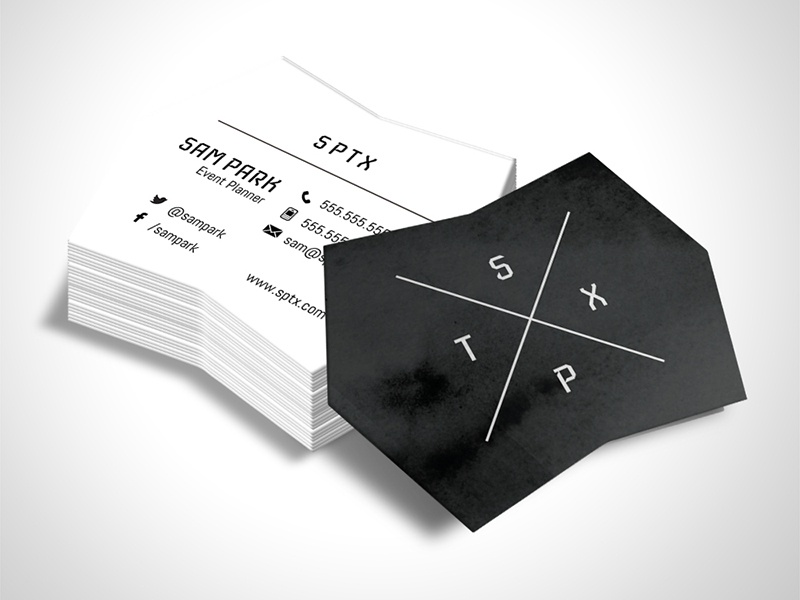 Shape K Die Cut Design Template business card design design template die cut