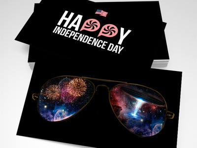 Independence Day Discount discount coupon america 4th of july independence day business cards