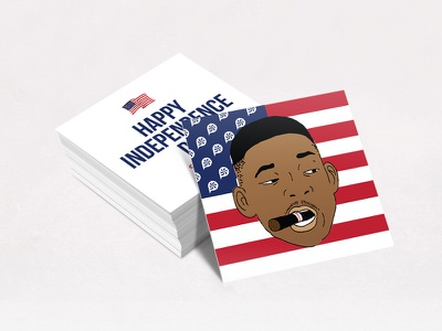 Welcome To Earth July 4th Instagram Post will smith independence day american business card instagram