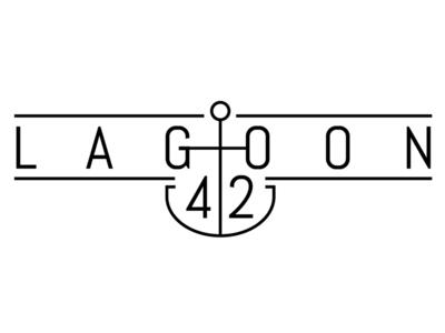 Lagoon 42 Logo Idea clean minimal yacht ship boat ocean sailing logo
