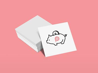 Cheap Business Cards Header minimal design business cards cheap animal pig post blog header