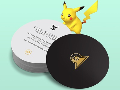 Pokemon Trainer Business Card pikachu business card print clean black gold minimal design pokemon go pokemon