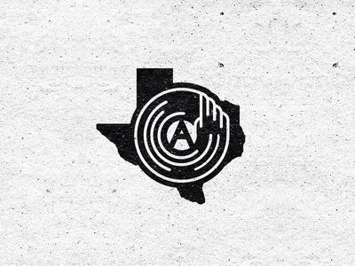 Austin From Texas Icon  austin texas vynil record techno electornic music music dj minimal icon logo