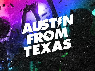 Austin From Texas V2 Idea type. minimal dance edm electronic music techno music austin texas wip logo idea