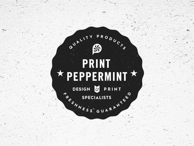 Why Peppermint Badge wip guaranteed quality minimal design badge