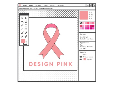 Design Pink - Email Blast Image cure ribbon susan g komen cancer breast cancer pink design mailchimp email