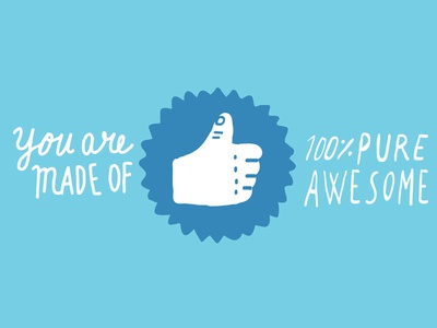 Positivity PSA - Campaign - 1 inspo inspirational positivity psa facebook type text design illustration