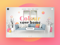 Home decor & accessories landing page concept