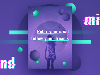 Relax your mind - motivation poster