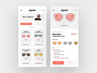 Eyerim e-shop mobile redesign