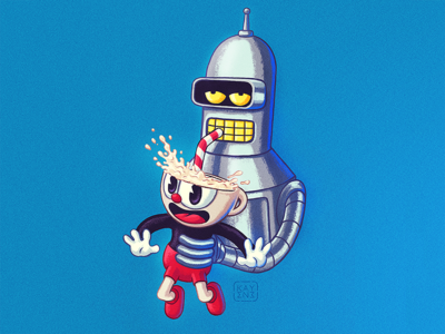 Bender&Cuphead Illustration