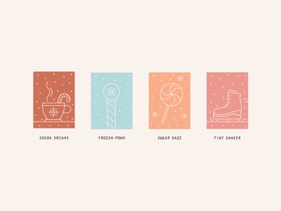 Holiday Color Palette | Day 4 christmas digital illustration illustrations lineart snow ice skate lollipop hot cocoa north pole winter icons winter holiday aesthetic color names color palette holiday colors christmas icons holly jolly design challenge