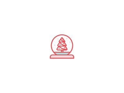 Holiday Icons | Day 5 line art christmas tree snowglobe gift winter hat hat present yule log winter red minimal holly jolly christmas challenge iconography illustration icon style icon set christmas christmas icons holiday icons