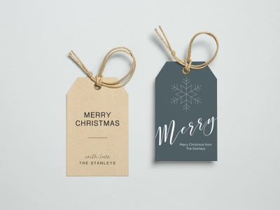 Holiday Gift Tags | Day 6 tag mockup packaging mockup snowflake happy holidays holiday branding christmas gift tags gift tags merry christmas christmas holly jolly design challenge packaging