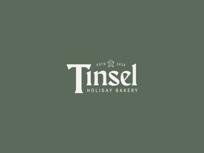 Tinsel Snaps Logo Exploration | Day 10 minimal logo exercise brand branding design tinsel logo exploration bakery bakery logo gingerbread man christmas winter holiday logo design branding logodesign christmas logo holly jolly design challenge