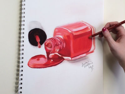 Nail Polish Drawing By Lauren Stanley Dribbble Dribbble
